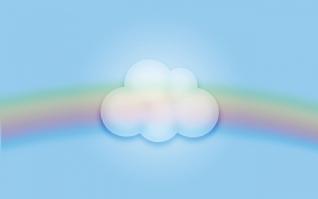 彩虹云朵xp主题